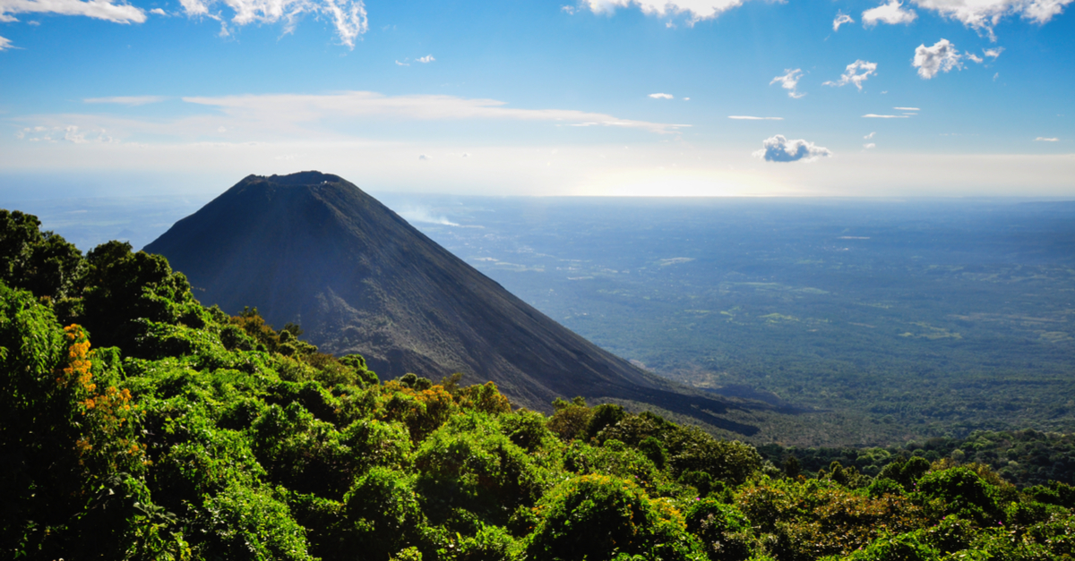 "This is Izalco, a stratovolcano in El Salvador, that through continuous eruptions, formed between 1770 and 1958. This ""young"" volcano is  a sign of the enormous geothermal energy potential sitting beneath this Central American country."